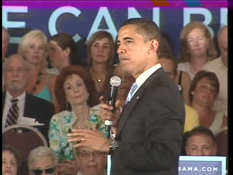vídeos y material grabado en eventos de stock de democratic presidential candidate senator barack obama speaks to the b'nai torah congregation in boca raton, florida. - torah