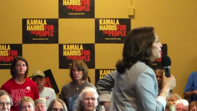 democratic presidential candidate us sen kamala harris speaks during a for the people campaign rally on august 11 2019 in mount pleasant iowa kamala... - candidate stock videos & royalty-free footage