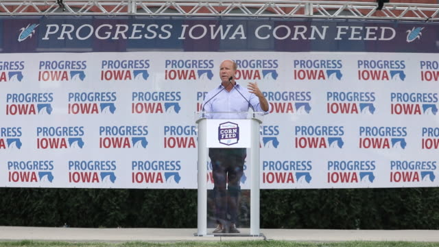 Democratic presidential candidates during the Progress Iowa Corn Feed in Cedar Rapids Iowa USA on Sunday June 14 2019