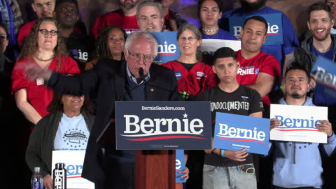 democratic presidential nomination hopeful bernie sanders speaks to supporters at springs preserve on the eve of the nevada caucus, friday, february... - nevada stock videos & royalty-free footage