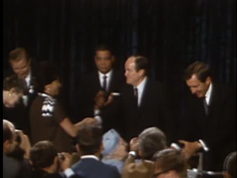 democratic presidential nominee hubert humphrey delivers his acceptance speech at the 1968 democratic national convention. - united states and (politics or government) stock videos & royalty-free footage