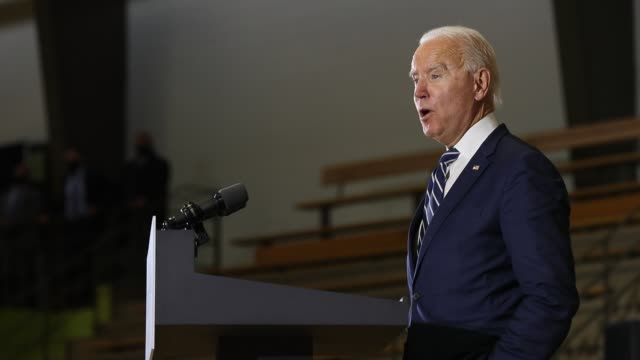 democratic presidential nominee joe biden delivers remarks about health care at beech woods recreation center october 16, 2020 in southfield,... - political rally stock videos & royalty-free footage