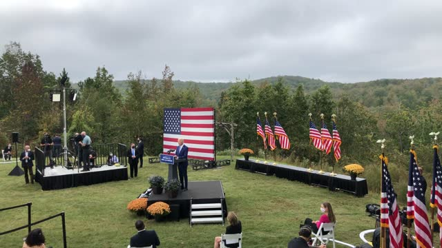 democratic presidential nominee joe biden speaks during a campaign event at the mountain top inn and resort on october 27 in warm springs, georgia.... - nominee stock videos & royalty-free footage