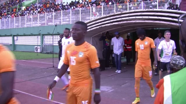 democratic republic of congo stunned ivory coast 4-3 in abidjan on wednesday in thie africa cup of nations qualifier - côte d'ivoire stock videos & royalty-free footage