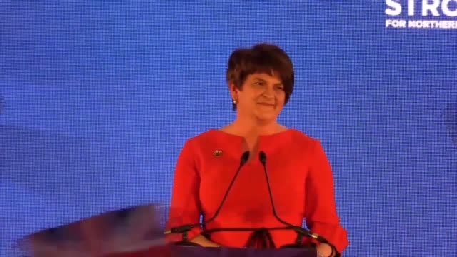 democratic unionist leader arlene foster has warned sinn fein to get serious about the terms of a deal to restore stormont powersharing - stormont stock videos and b-roll footage