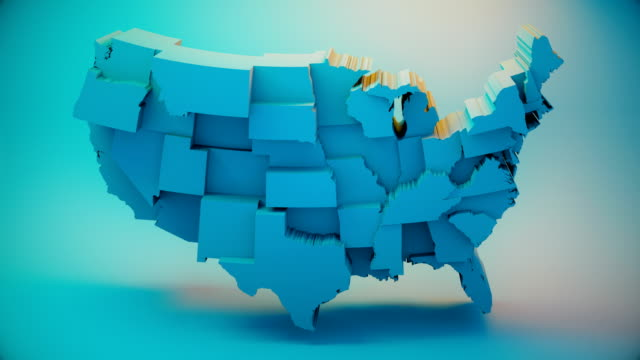 usa democrats map - partito repubblicano degli usa video stock e b–roll