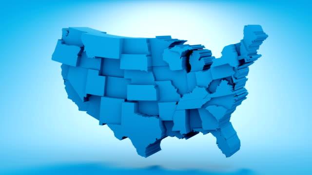 stockvideo's en b-roll-footage met kaart vs-democraten - politieke bijeenkomst