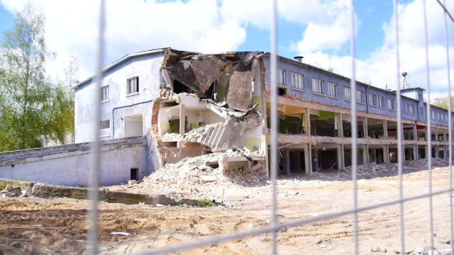 demolished building. - bombing stock videos & royalty-free footage