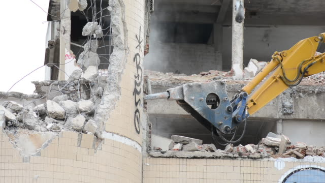 demolishing - pneumatic drill stock videos & royalty-free footage