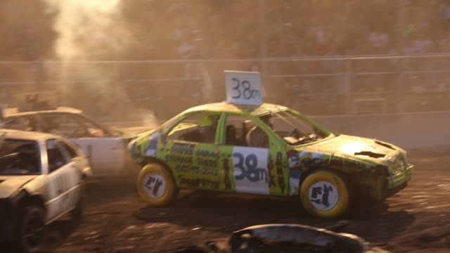 demolition derby at the delaware county fair - bodyweight training stock videos & royalty-free footage