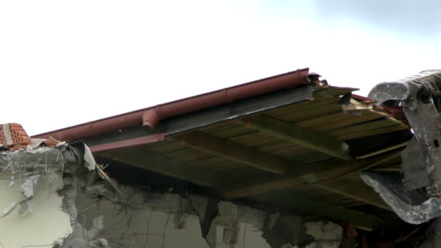 demolition - roof tile stock videos & royalty-free footage