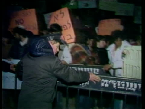 demonstration against ariel sharon - ariel sharon stock videos and b-roll footage