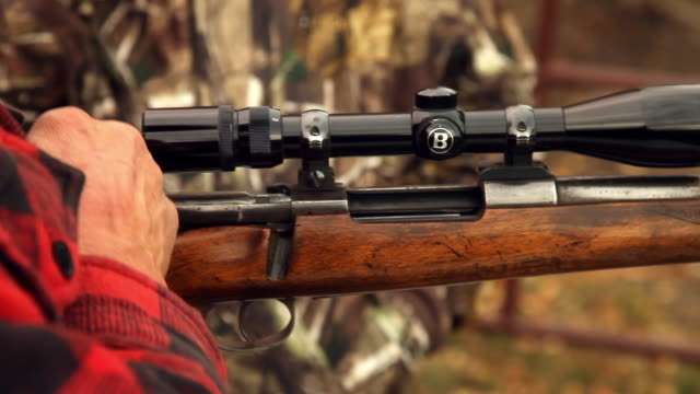 demonstration of a shotgun - hunting sport stock videos and b-roll footage