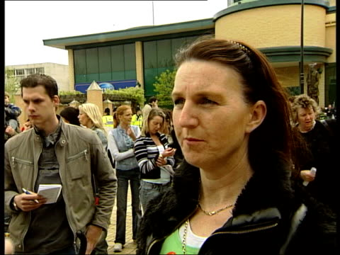 demonstration to oppose essex eviction basildon cms margaret quilligan interview sot i want to stay where i am bridget flynn interview sot we have to... - t in the park stock-videos und b-roll-filmmaterial