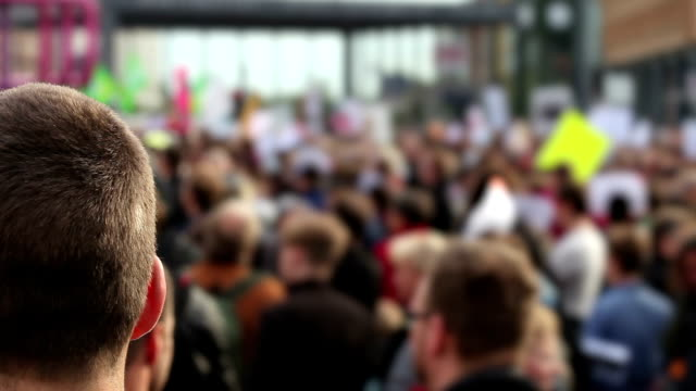 demonstration - picket line stock videos & royalty-free footage