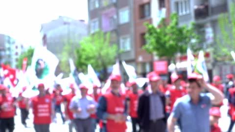 vidéos et rushes de démonstration - grève