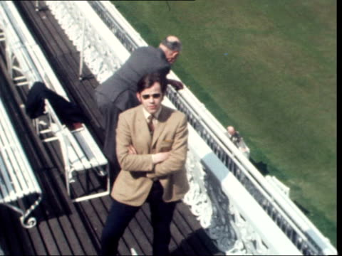 demonstrations outside the oval and lords over springboks proposed tour; england: lords: hatfield on balcony as players walk out: 'the start of the... - oval kennington stock videos & royalty-free footage