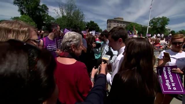 Demonstrations take place against restrictive abortion laws USA Washington DC Pete Buttigieg speaking to press SOT Senator Kirsten Gillibrand...