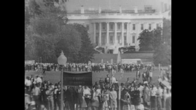 demonstrators at the march on washington - 1963 stock videos & royalty-free footage