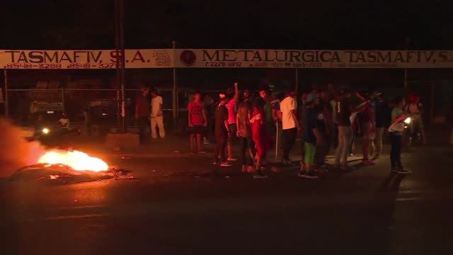 demonstrators burn tires and block some roads in nicaragua's capital on saturday evening to protest against a proposed change to the country's... - pension stock videos & royalty-free footage
