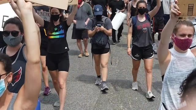"""demonstrators chant """"no peace, no justice"""" and the names of """"george floyd"""" and """"brianna taylor"""" as they march on constitution avenue near the hart... - capitol hill stock videos & royalty-free footage"""
