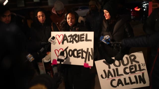 demonstrators gather near the studio of singer r kelly to call for a boycott of his music after allegations of sexual abuse against young girls were... - surviving r. kelly stock videos & royalty-free footage