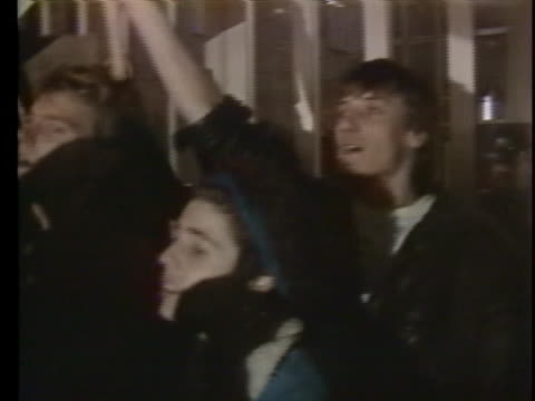 demonstrators march after the resignation of the entire east german politburo and cabinet. - human rights or social issues or immigration or employment and labor or protest or riot or lgbtqi rights or women's rights stock videos & royalty-free footage