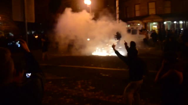 demonstrators take to the streets of portland oregon adding to a third straight night of nationwide protests to oppose donald trump's election as... - portland oregon stock videos & royalty-free footage