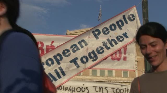 Demonstrators took to the streets of Athens Monday to say No to the latest offer of a bailout deal accusing Greeces international creditors of...