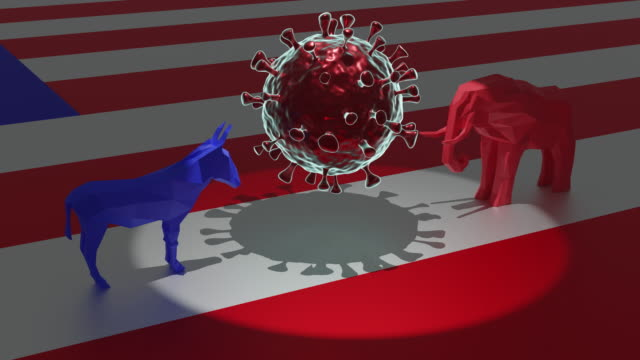 dems and gop coronavirus - democratic party usa stock videos & royalty-free footage