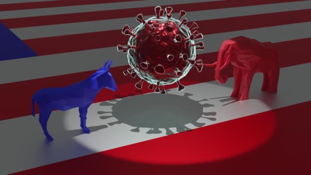 vidéos et rushes de dems and gop coronavirus - voter