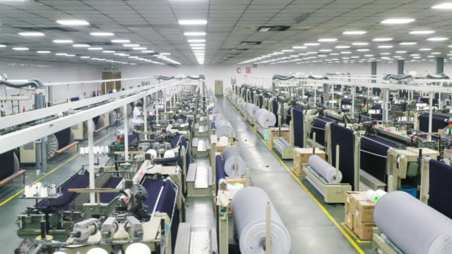 denim textile industry - textile mill stock videos & royalty-free footage