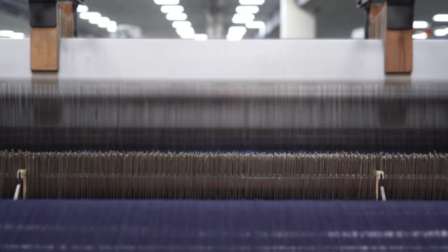 denim textile industry - loom stock videos & royalty-free footage