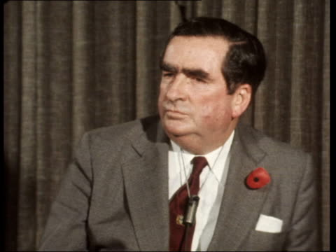 london denis healey sof the essential thing is that the imfunder 2 billion ⣠this year ekta 16mm isaacs 202 mins 76ft tx 71175/nat - denis healey stock videos & royalty-free footage