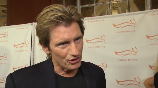 interview denis leary on supporting michael at 2015 a funny thing happened on the way to cure parkinson's at waldorf astoria hotel on november 14... - waldorf astoria new york stock videos & royalty-free footage