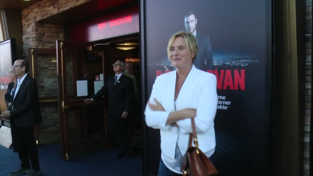 """denise crosby at showtime and time warner cable celebrate season two of """"ray donovan"""" in los angeles, ca 7/9/14 - showtime video stock e b–roll"""