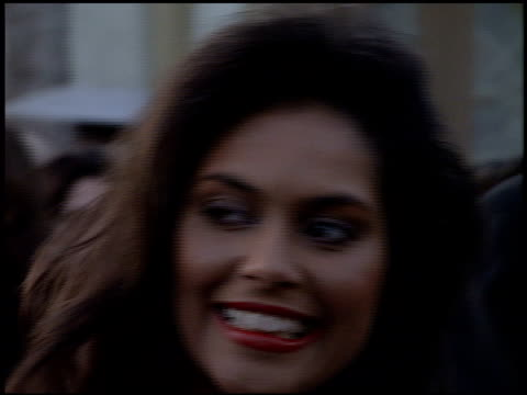 denise matthews at the 'congo' premiere at paramount lot in hollywood california on june 6 1995 - vanity stock videos & royalty-free footage