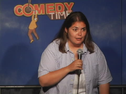 denise ramsden dumps her knowledge of portable toilets on the world. subscribe to comedy time youtube channel here: http://bit.ly/comedy_time also... - waist up stock videos & royalty-free footage