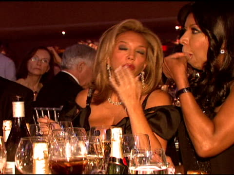 denise rich and natalie cole at the denise rich marks 10th year of the gp foundation with an evening of stars and music at the 2007 angel ball at... - marriott marquis new york stock videos & royalty-free footage