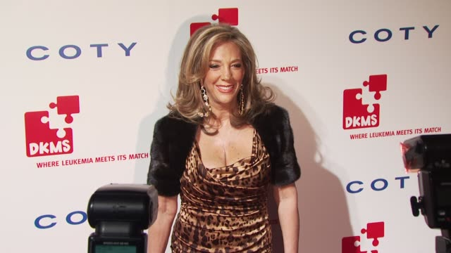 denise rich at the dkms' 4th annual gala: linked against leukemia - arrivals at new york ny. - 白血病点の映像素材/bロール