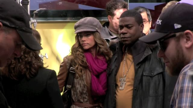 Denise Richards and Tracy Morgan on location for '30 Rock' in New York on