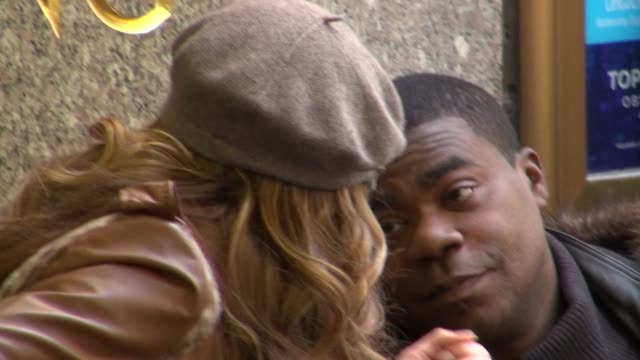 Denise Richards and Tracy Morgan on the set of 30 Rock in New York