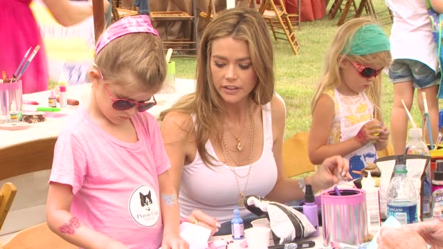 denise richards at the 21st annual 'a time for heroes' celebrity picnic benefit at los angeles ca - a time for heroes stock videos & royalty-free footage