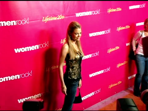 denise richards at the 5th annual women rock concert at the wiltern theater in los angeles california on september 28 2004 - wiltern theater stock videos and b-roll footage