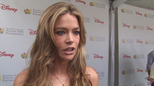 denise richards on event and why she attends at the 21st annual 'a time for heroes' celebrity picnic benefit at los angeles ca - a time for heroes stock videos & royalty-free footage
