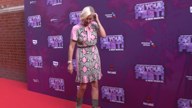 denise van outen at the london coliseum on june 27 2019 in london england - london coliseum stock videos and b-roll footage