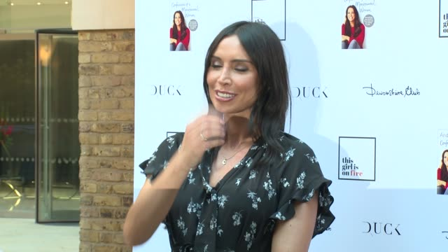 denise van outen, christine lampard at devonshire club on june 26, 2018 in london, england. - christine bleakley stock videos & royalty-free footage