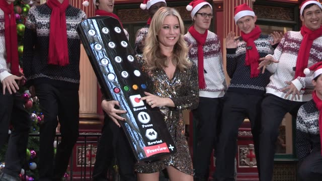 denise van outen launches freeview plus christmas carol event at leadenhall market on november 26, 2012 in london, england - addition key stock videos & royalty-free footage