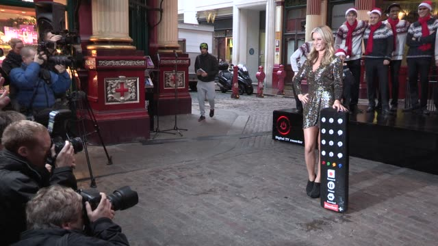 denise van outen launches freeview plus christmas carol event denise van outen at leadenhall market on november 26, 2012 in london, england - addition key stock videos & royalty-free footage