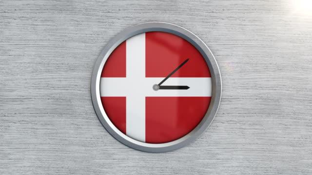 vídeos de stock e filmes b-roll de denmark clock time lapse - região de oresund